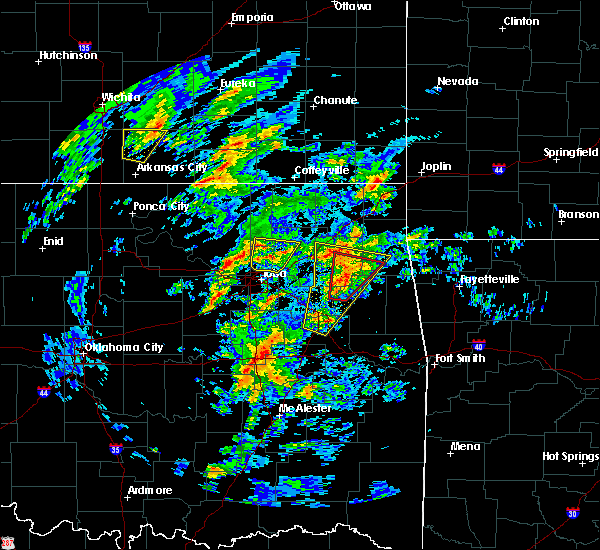 Radar Image for Severe Thunderstorms near Vera, OK at 1/10/2020 11:50 AM CST