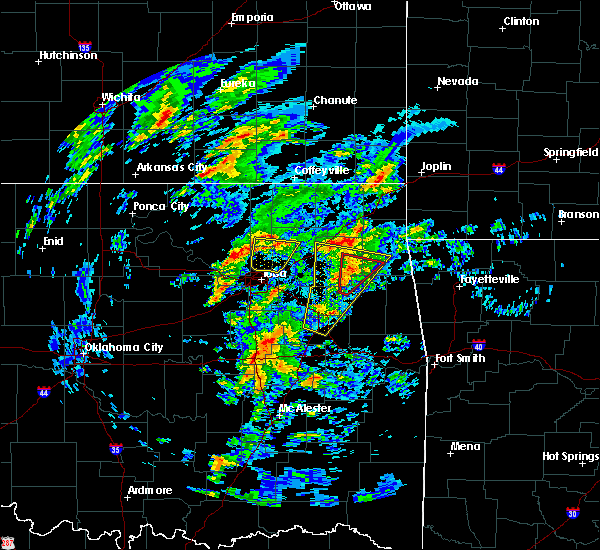 Radar Image for Severe Thunderstorms near Bernice, OK at 1/10/2020 11:57 AM CST