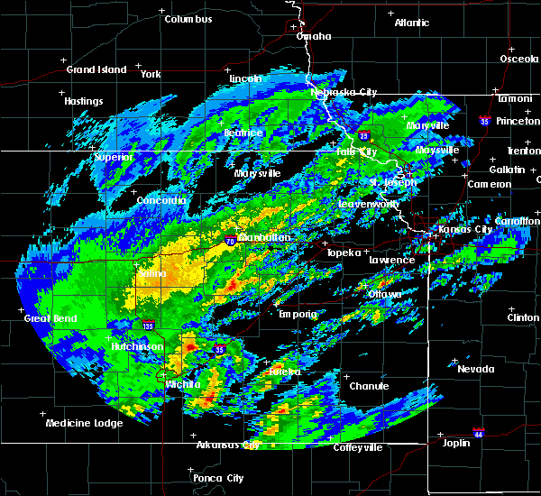 Radar Image for Severe Thunderstorms near Florence, KS at 1/10/2020 12:19 PM CST