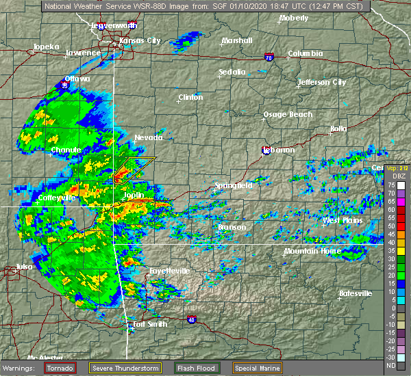 Radar Image for Severe Thunderstorms near Irwin, MO at 1/10/2020 12:49 PM CST