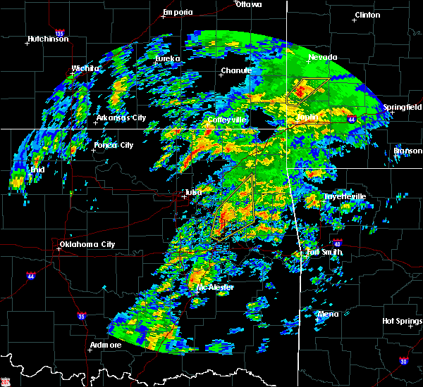 Radar Image for Severe Thunderstorms near Okay, OK at 1/10/2020 1:07 PM CST