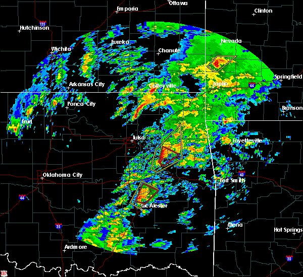 Radar Image for Severe Thunderstorms near Okay, OK at 1/10/2020 1:15 PM CST