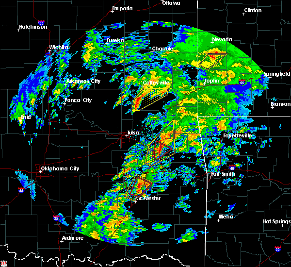 Radar Image for Severe Thunderstorms near Okay, OK at 1/10/2020 1:25 PM CST