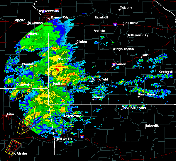 Radar Image for Severe Thunderstorms near Milo, MO at 1/10/2020 1:26 PM CST