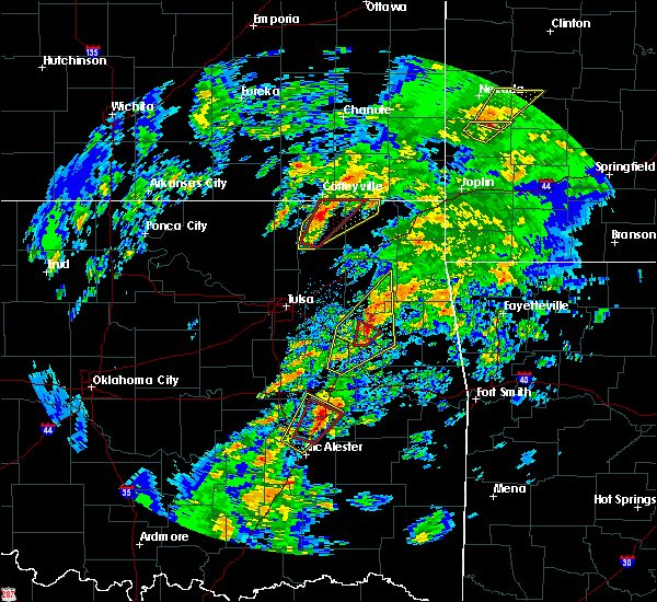 Radar Image for Severe Thunderstorms near Okay, OK at 1/10/2020 1:27 PM CST