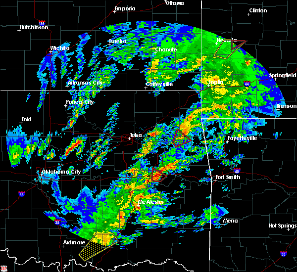 Radar Image for Severe Thunderstorms near Warner, OK at 1/10/2020 2:09 PM CST