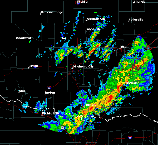 Radar Image for Severe Thunderstorms near Phillips, OK at 1/10/2020 2:14 PM CST