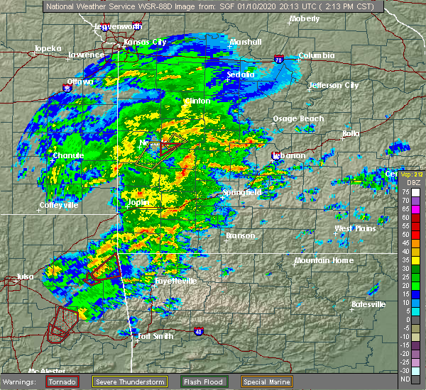 Radar Image for Severe Thunderstorms near Roscoe, MO at 1/10/2020 2:16 PM CST
