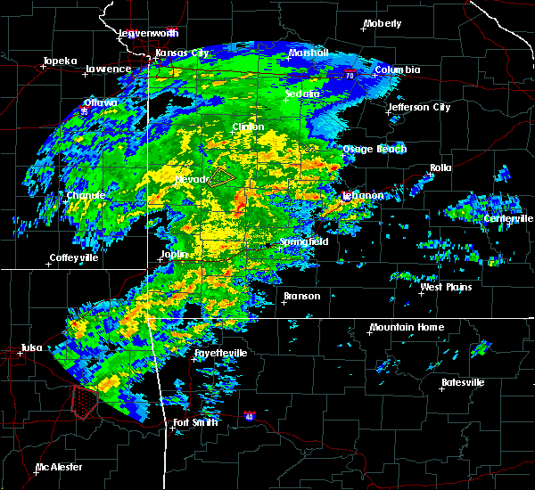 Radar Image for Severe Thunderstorms near Fair Play, MO at 1/10/2020 2:25 PM CST