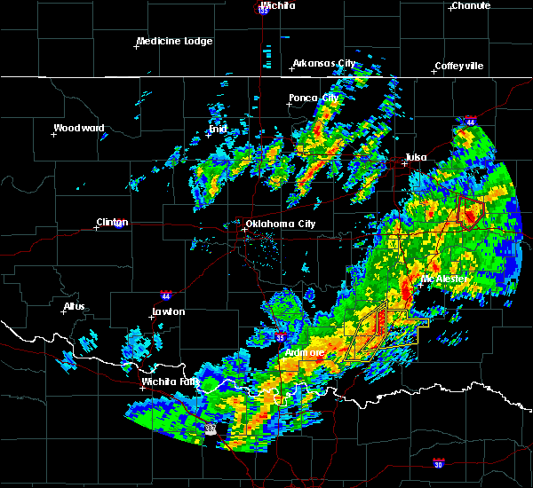 Radar Image for Severe Thunderstorms near Stringtown, OK at 1/10/2020 2:28 PM CST