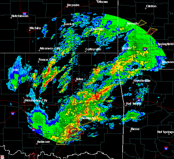 Radar Image for Severe Thunderstorms near Muskogee, OK at 1/10/2020 2:32 PM CST