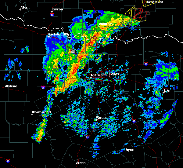 Radar Image for Severe Thunderstorms near Thackerville, OK at 1/10/2020 2:34 PM CST