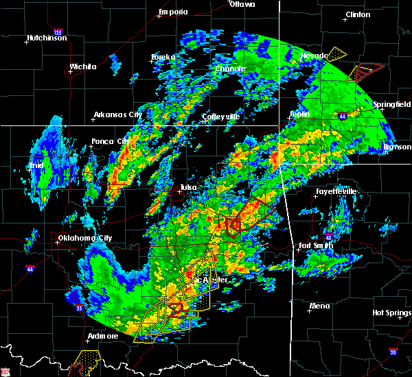 Radar Image for Severe Thunderstorms near Park Hill, OK at 1/10/2020 2:39 PM CST