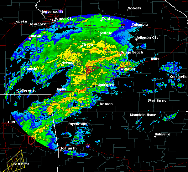 Radar Image for Severe Thunderstorms near Bagnell, MO at 1/10/2020 2:41 PM CST
