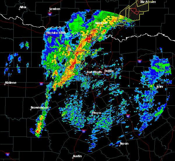 Radar Image for Severe Thunderstorms near Lindsay, TX at 1/10/2020 2:42 PM CST
