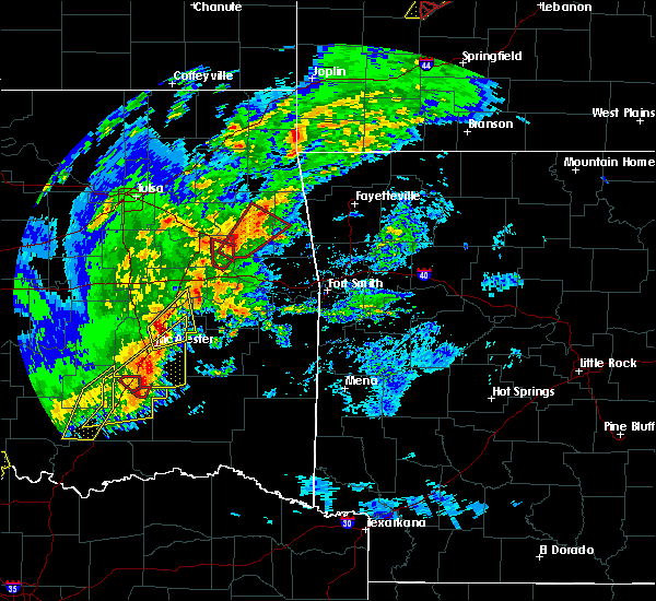 Radar Image for Severe Thunderstorms near Texanna, OK at 1/10/2020 2:45 PM CST