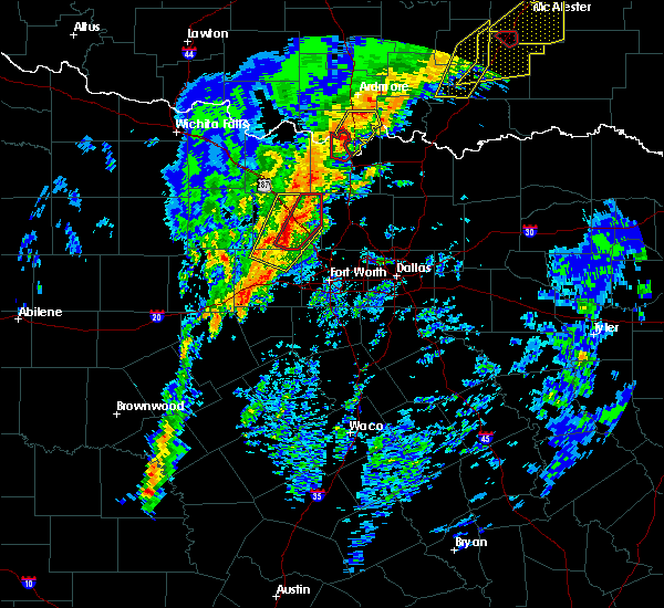 Radar Image for Severe Thunderstorms near Paradise, TX at 1/10/2020 2:48 PM CST