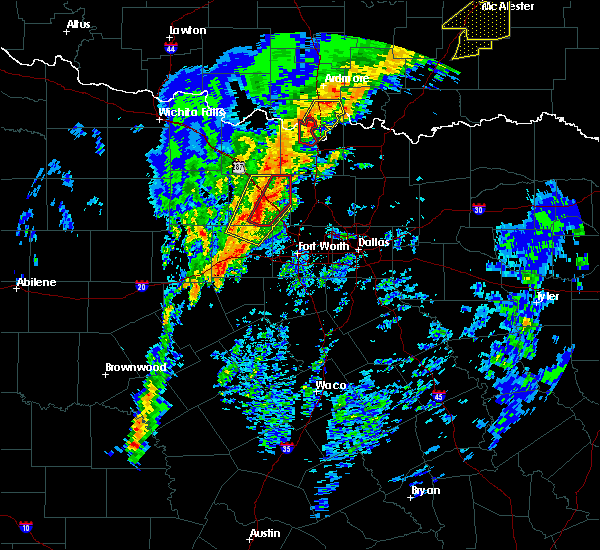 Radar Image for Severe Thunderstorms near Thackerville, OK at 1/10/2020 2:54 PM CST