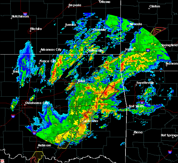 Radar Image for Severe Thunderstorms near Park Hill, OK at 1/10/2020 2:56 PM CST