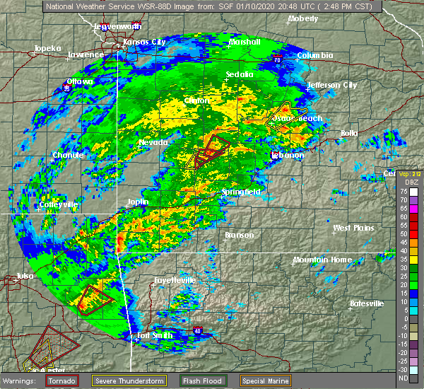 Radar Image for Severe Thunderstorms near Noel, MO at 1/10/2020 2:59 PM CST