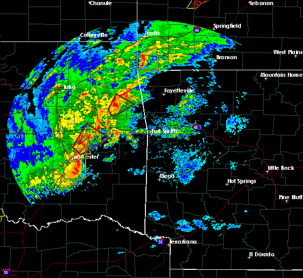 Radar Image for Severe Thunderstorms near Alderson, OK at 1/10/2020 3:00 PM CST