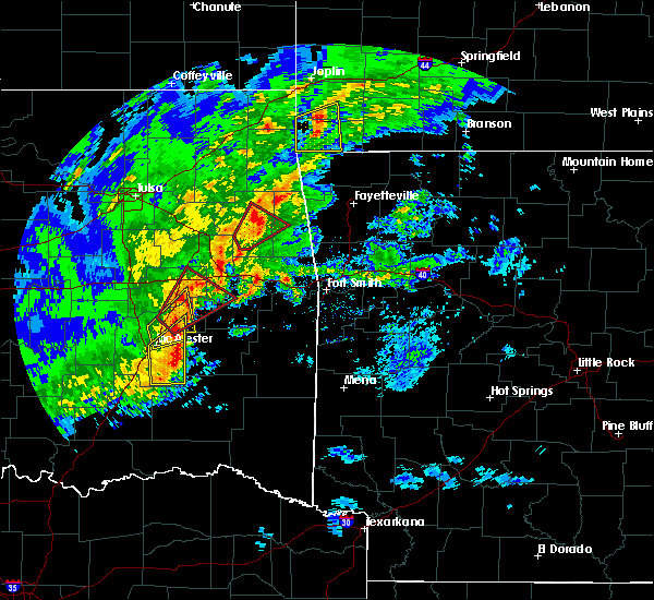 Radar Image for Severe Thunderstorms near Quinton, OK at 1/10/2020 3:08 PM CST