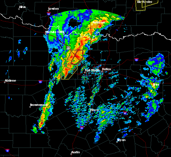 Radar Image for Severe Thunderstorms near Weatherford, TX at 1/10/2020 3:08 PM CST