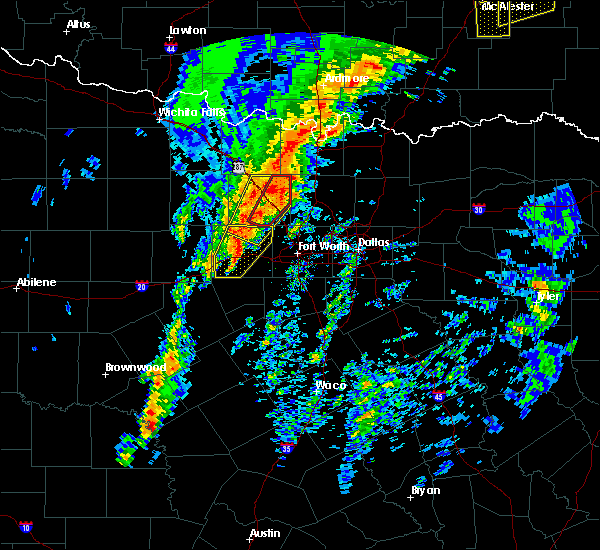 Radar Image for Severe Thunderstorms near Paradise, TX at 1/10/2020 3:10 PM CST