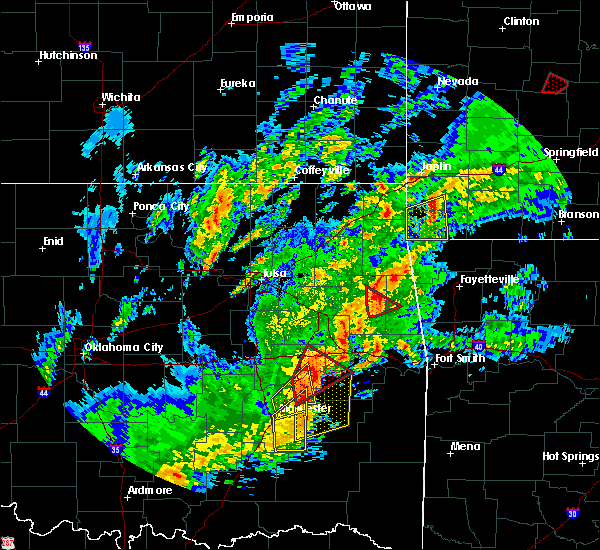 Radar Image for Severe Thunderstorms near Flint Creek, OK at 1/10/2020 3:15 PM CST
