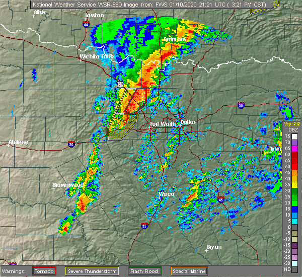 Radar Image for Severe Thunderstorms near Paradise, TX at 1/10/2020 3:24 PM CST