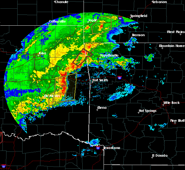 Radar Image for Severe Thunderstorms near Cowlington, OK at 1/10/2020 3:43 PM CST