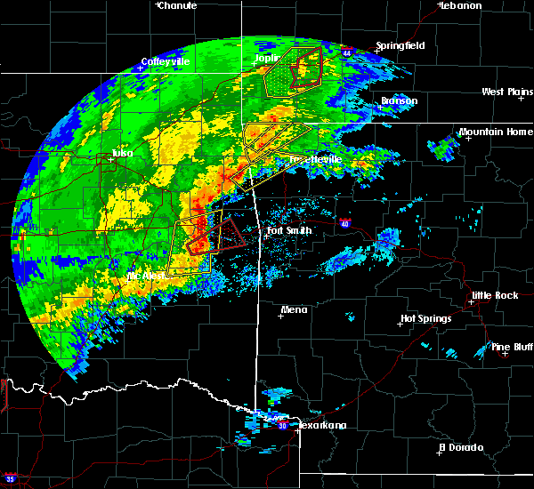 Radar Image for Severe Thunderstorms near Cowlington, OK at 1/10/2020 3:54 PM CST