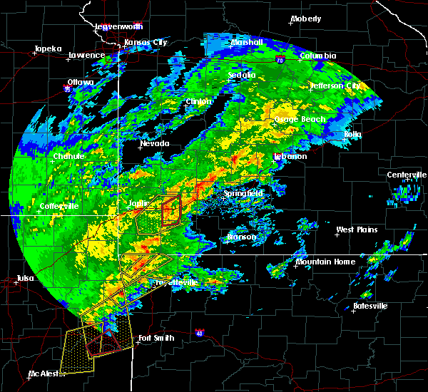 Radar Image for Severe Thunderstorms near Stotts City, MO at 1/10/2020 3:59 PM CST