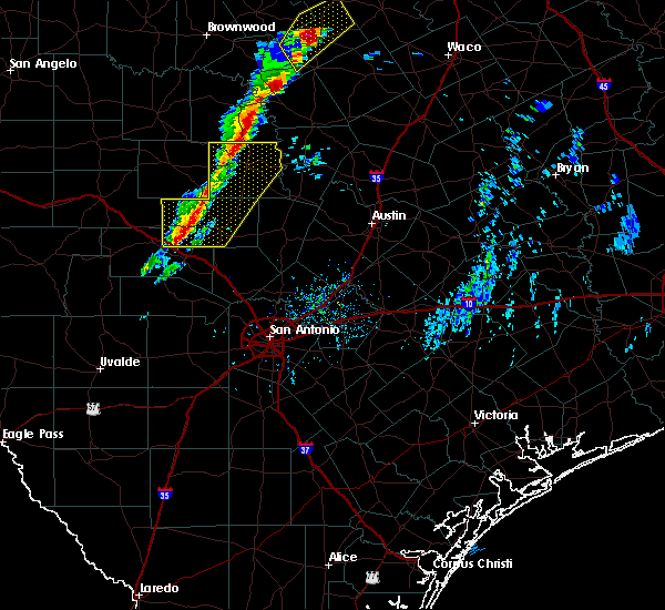 Radar Image for Severe Thunderstorms near Harper, TX at 1/10/2020 4:03 PM CST