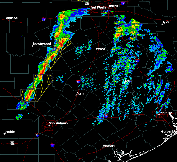 Radar Image for Severe Thunderstorms near Lometa, TX at 1/10/2020 4:09 PM CST