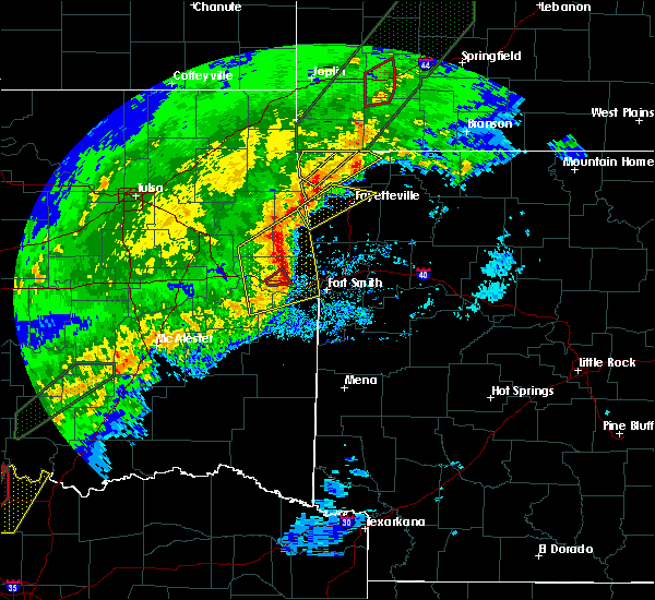 Radar Image for Severe Thunderstorms near Pea Ridge, AR at 1/10/2020 4:15 PM CST