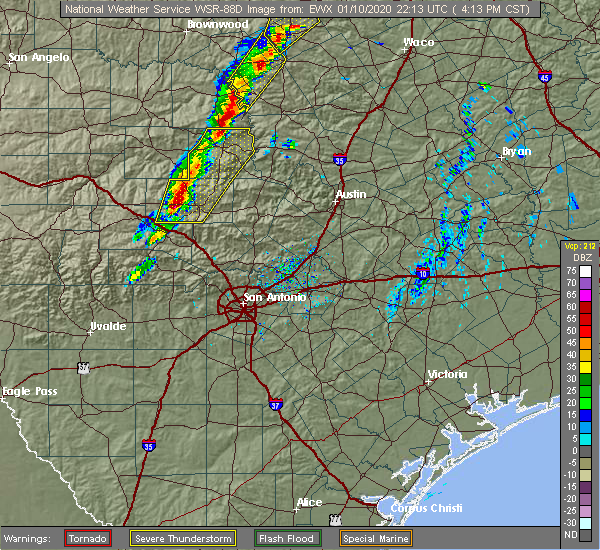 Radar Image for Severe Thunderstorms near Kingsland, TX at 1/10/2020 4:16 PM CST
