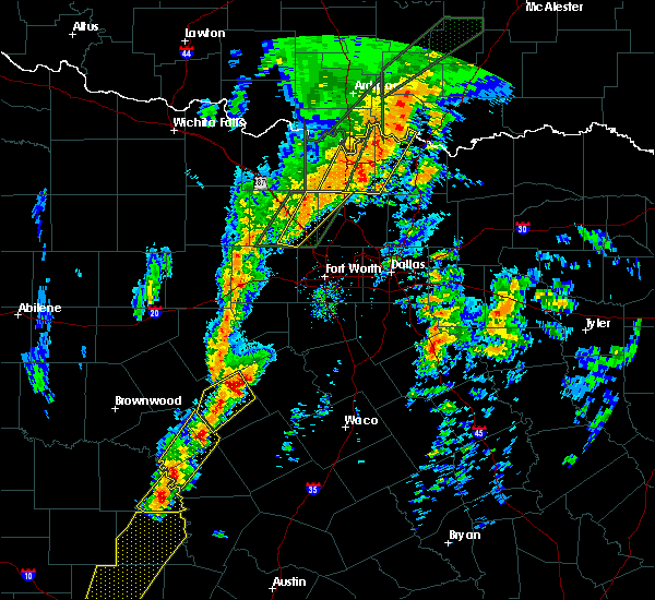 Radar Image for Severe Thunderstorms near Bee, OK at 1/10/2020 4:23 PM CST