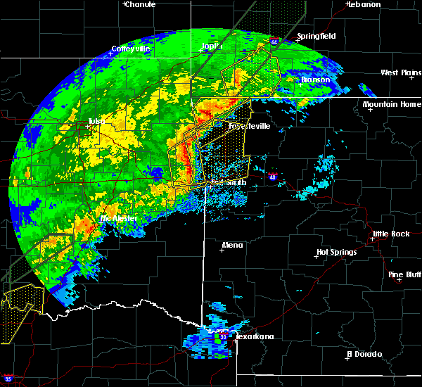 Radar Image for Severe Thunderstorms near Rogers, AR at 1/10/2020 4:27 PM CST
