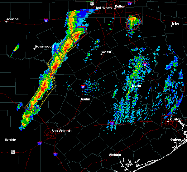 Radar Image for Severe Thunderstorms near Lometa, TX at 1/10/2020 4:48 PM CST
