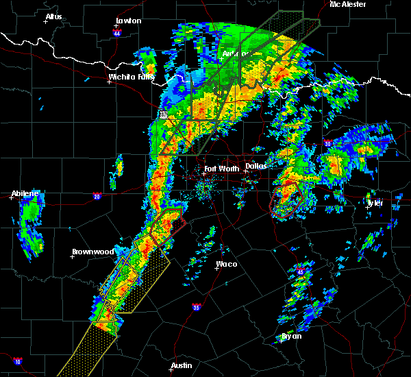 Radar Image for Severe Thunderstorms near Walnut Springs, TX at 1/10/2020 4:57 PM CST