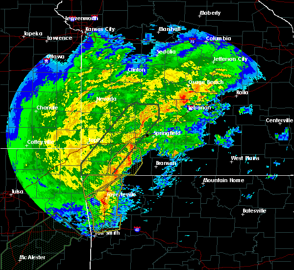 Radar Image for Severe Thunderstorms near Kimberling City, MO at 1/10/2020 4:57 PM CST