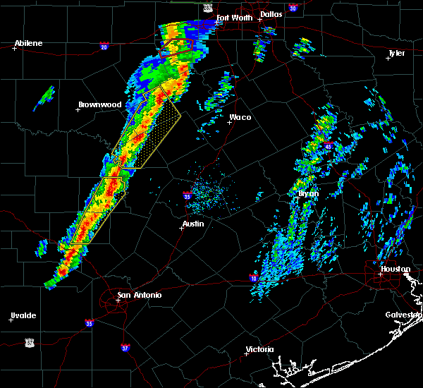 Radar Image for Severe Thunderstorms near Kingsland, TX at 1/10/2020 5:03 PM CST