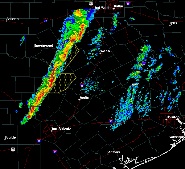 Radar Image for Severe Thunderstorms near Lometa, TX at 1/10/2020 5:14 PM CST