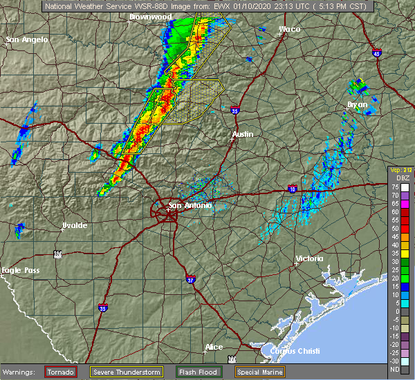 Radar Image for Severe Thunderstorms near Johnson City, TX at 1/10/2020 5:17 PM CST
