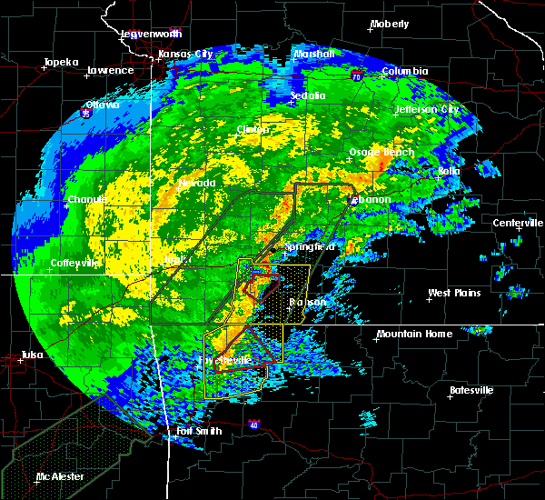 Radar Image for Severe Thunderstorms near Strafford, MO at 1/10/2020 5:25 PM CST