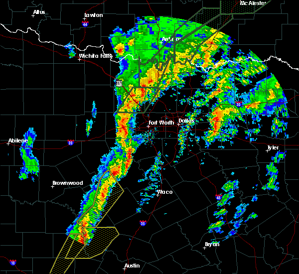 Radar Image for Severe Thunderstorms near Cleburne, TX at 1/10/2020 5:24 PM CST