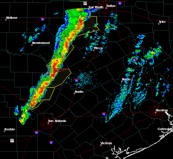 Radar Image for Severe Thunderstorms near Granite Shoals, TX at 1/10/2020 5:35 PM CST