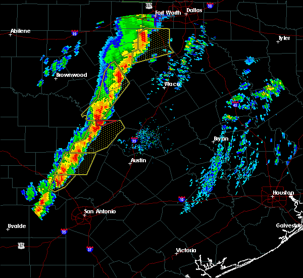 Radar Image for Severe Thunderstorms near Copperas Cove, TX at 1/10/2020 5:38 PM CST