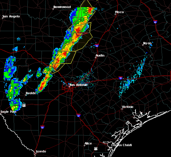 Radar Image for Severe Thunderstorms near Johnson City, TX at 1/10/2020 5:41 PM CST